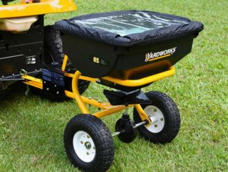 YARDWORKS 85-Pound Tow-behind Broadcast Spreader Review